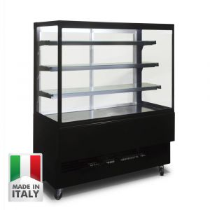 1200MM Black Cake Showcase - Italian Made