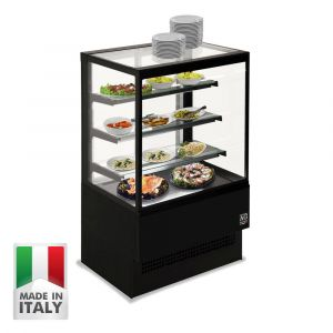 900MM Black Cake Showcase - Italian Made