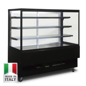 1500MM Black Cake Showcase - Italian Made