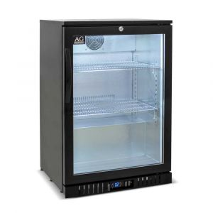 Single Door Bar Fridge - Black Body & Doors