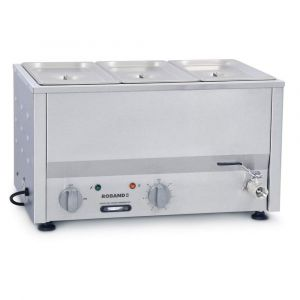 Roband Counter Top Bain Marie 3 x 1/3 size 100mm pans