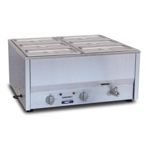 Roband Counter Top Bain Marie 6 x 1/3 size 100mm pans