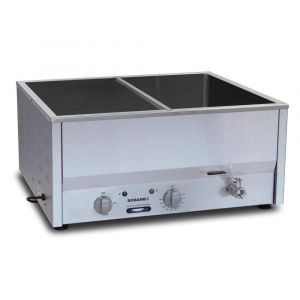 Roband Counter Top Bain Marie with thermostat 4 x 1/2 size, pans not included
