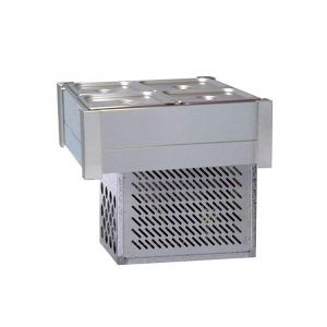 Roband Refrigerated Bain Marie 4 x 1/2 size, pans not included, double row