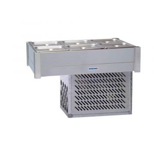 Roband Refrigerated Bain Marie 6 x 1/2 size, pans not included, double row