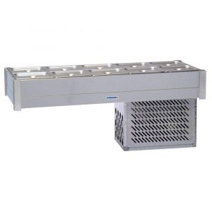 Roband Refrigerated Bain Marie 10 x 1/2 size, pans not included, double row