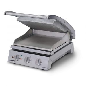 Roband Grill Station 6 slice, ribbed top plate