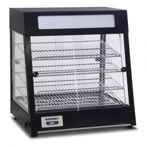 Roband Pie Warmer & Merchandiser 60 pies, doors both sides