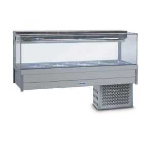 Roband Square Glass Refrigerated Display Bar, 10 pans