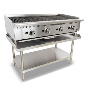 Four Burner Commercial Chargrill with lava rock - 1220MM width - Natural Gas