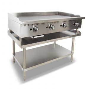 Four Burner Commercial Flat Griddle/Hotplate - 1220MM WIDTH - LPG