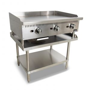 Three Burner Commercial Flat Griddle/Hotplate  - 910MM WIDTH - LPG