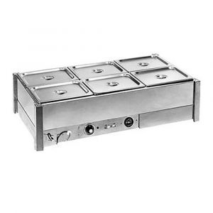 Roband Hot Bain Marie 6 x 1/2 size, pans not included, double row