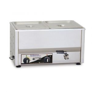 Roband Counter Top Bain Marie  with thermostat 2 x 1/2 size, pans not included