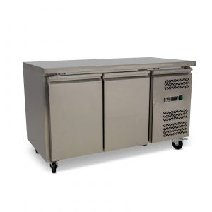 Two Door Commercial Worktop / Under Bench Freezer 700mm Depth