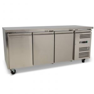 Three Door Commercial Worktop / Under Bench Fridge 600mm Depth