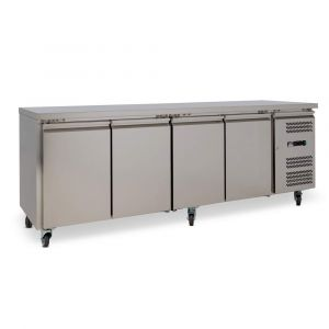 Four Door Commercial Worktop / Under Bench Fridge 600mm Depth