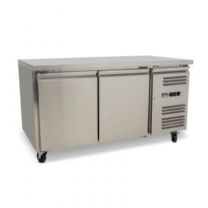 Two Door Commercial Worktop / Under Bench Fridge 800mm Depth