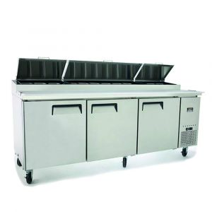 3 Door Saladette Fridge – Fits 12 x 1/3 GN Trays