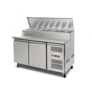 2 Door Saladette Fridge - 8 x 1/3 GN Trays