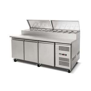 3 Door Saladette Fridge - 10 x 1/3 GN Trays