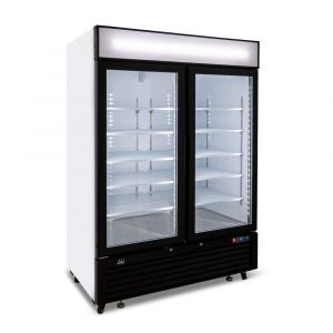 1300 Litre Upright Double Glass Door Display Freezer