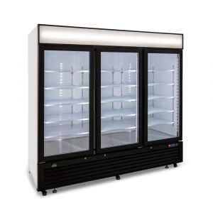 1900 Litre Upright Double Glass Door Display Freezer